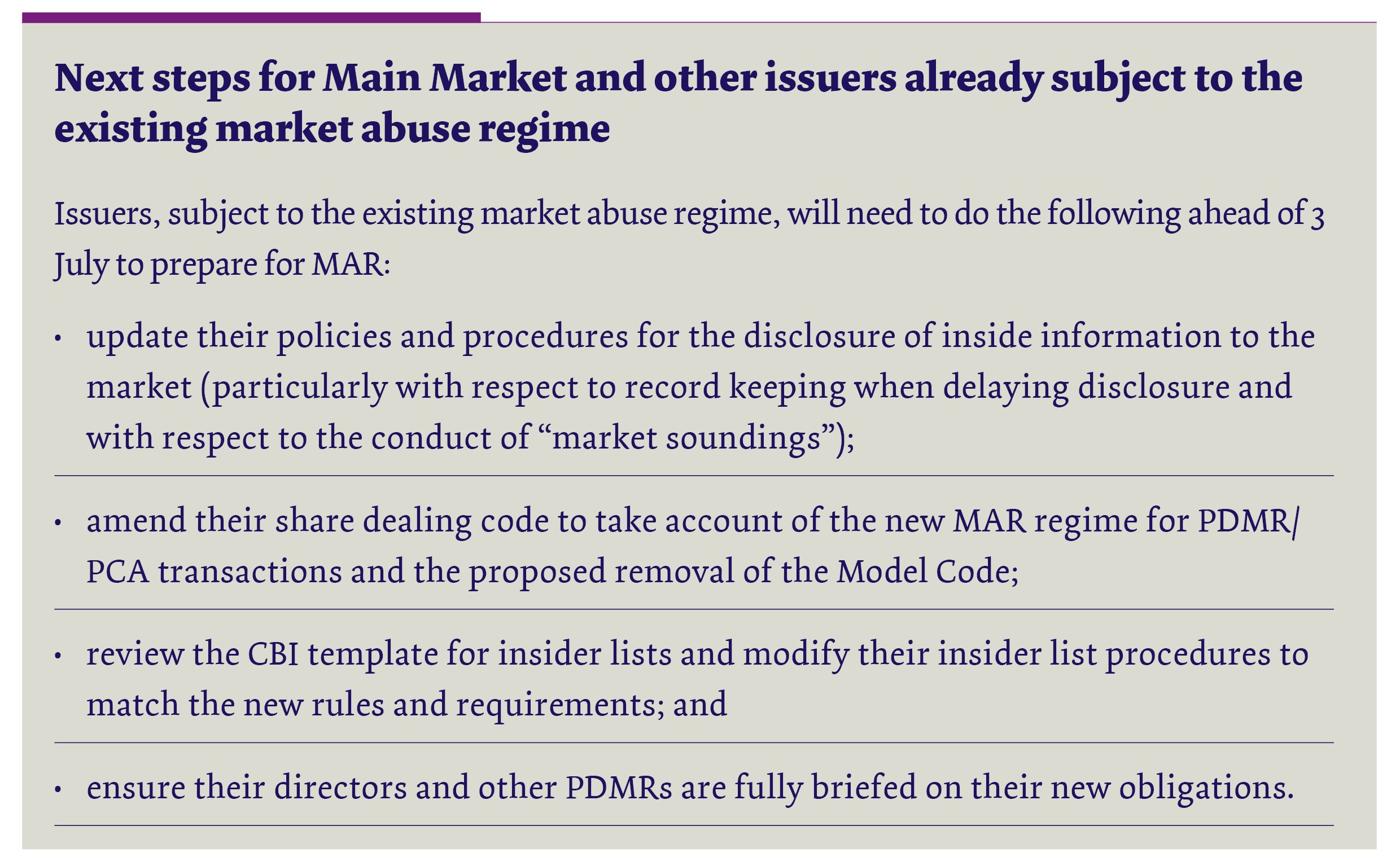 market abuse and insider dealing